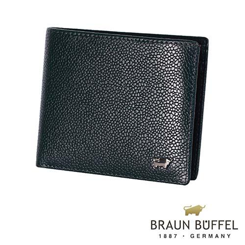 【BRAUN BUFFEL】德國小金牛-丘喬系列10卡皮夾(深藍色)BF301-314-MAR