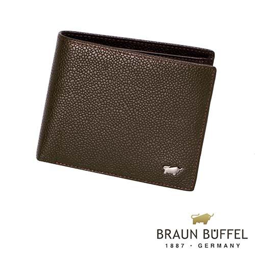 【BRAUN BUFFEL】德國小金牛-丘喬系列4卡零錢袋皮夾(可可色)BF301-315-CA