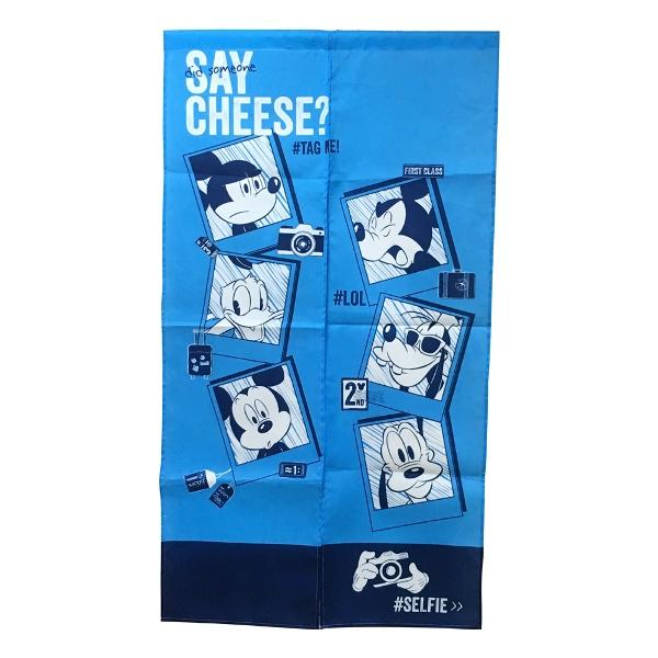 Disney米奇長門簾MF2001-藍色150x83cm