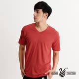【遊遍天下】台灣製中性款抗UV涼爽吸濕排汗V領機能衫(桔色 品特)