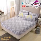 【Betrise流年熠彩】雙人-台灣製造-3M專利天絲吸濕排汗三件式床包組