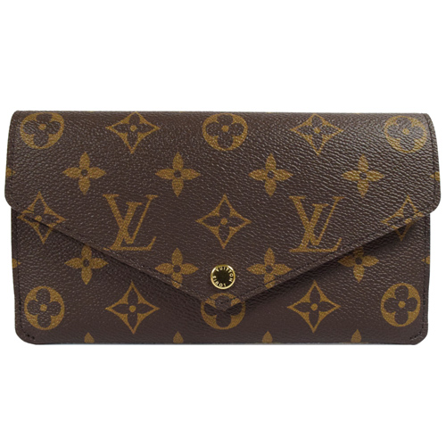 Louis Vuitton LV M62155 JEANNE 經典花紋釦式信封長夾.紫紅 現貨