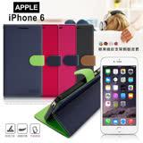 【台灣製造】FOCUS Apple iPhone 6 / 6s 4.7吋 糖果繽紛支架側翻皮套