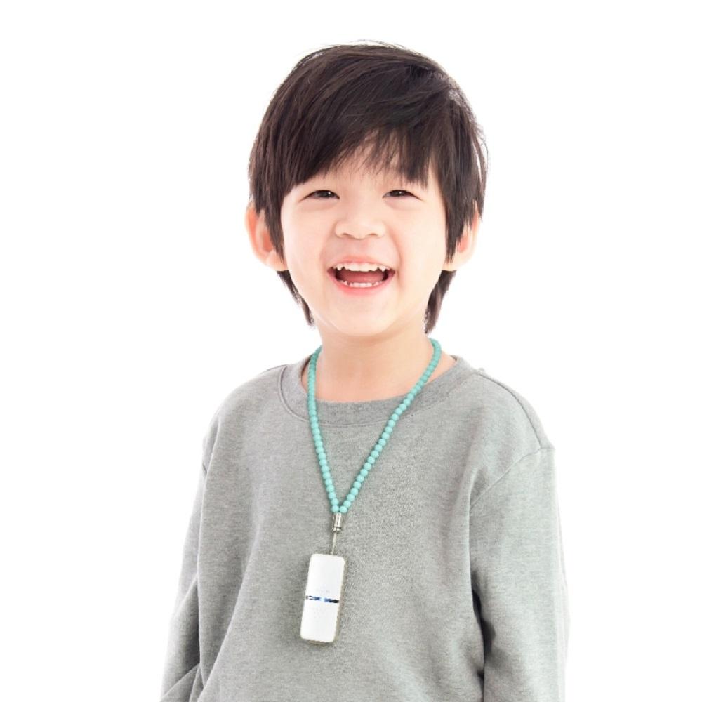 日本IONION 超輕量隨身空氣清淨機 專用兒童安全吊飾鍊-湖水藍(本商品為吊鍊,不含清淨機主機)