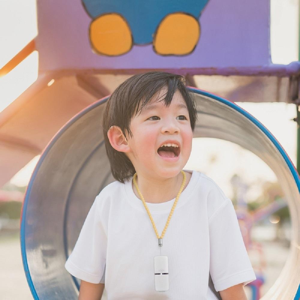 日本IONION 超輕量隨身空氣清淨機 專用兒童安全吊飾鍊-鵝絨黃(本商品為吊鍊,不含清淨機主機)