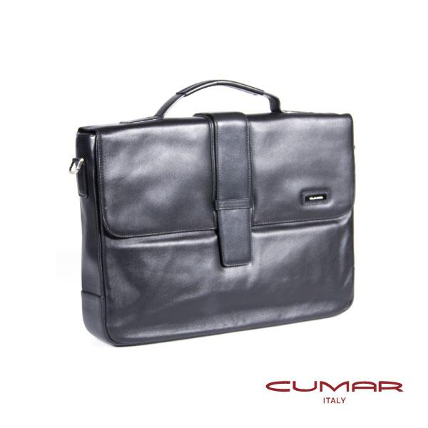CUMAR全皮公事包(雙磁釦) 0296-B2901