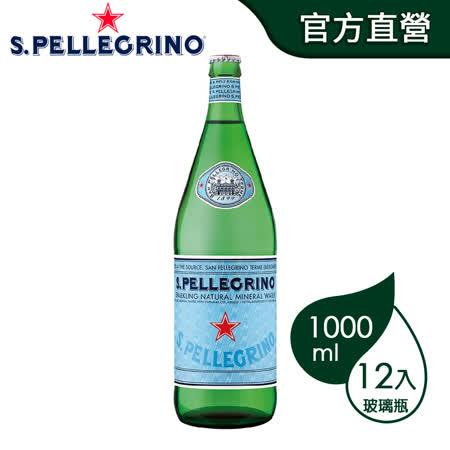 聖沛黎洛 氣泡礦泉水 (1000ml/12罐)