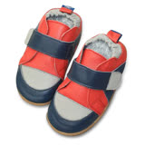 英國 shooshoos 安全無毒真皮手工學步鞋/童鞋 海軍藍/紅色運動款(公司貨)