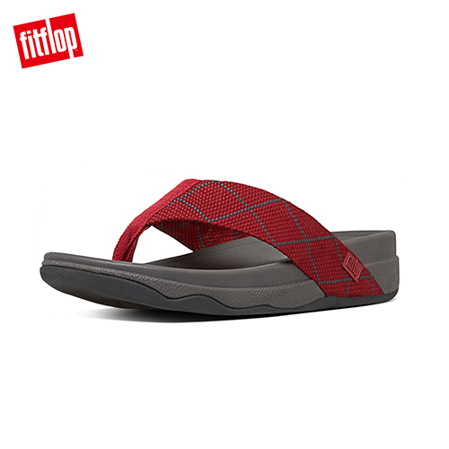 FitFlop - (男款)SURFER DYNO -深灰/經典紅