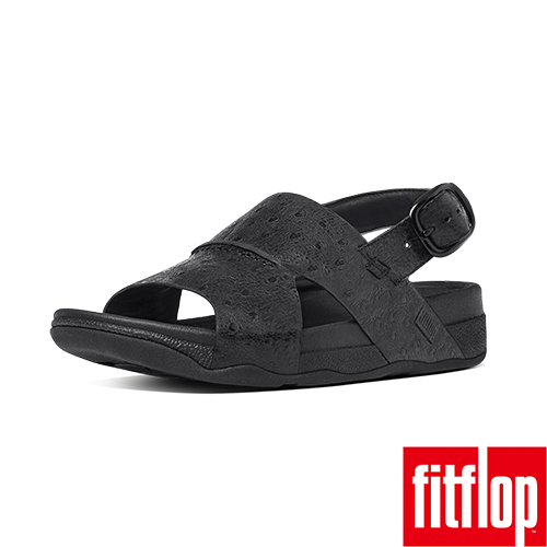 FitFlop™_ 男款 BANDO™ LEATHER BACK~STRAP~黑色