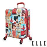 ELLE 70週年復古雜誌 29吋純PC防盜/防爆拉鍊行李箱/旅行箱- 紅色EL31181