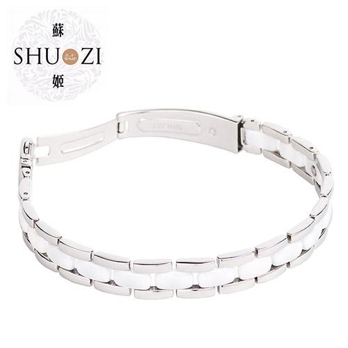 SHUZI™ 白京瓷手鍊 - 美國製造  BL-C01