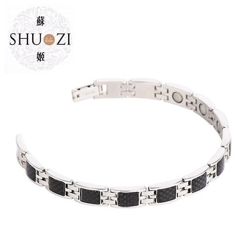 SHUZI™ MEDELA 碳纖手鍊 黑 - 美國製造  BL-S27