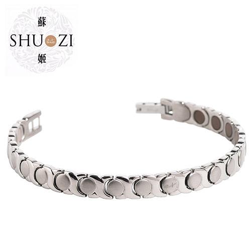 SHUZI™7 IN 1 圈圈相連 鈦手鍊 - 美國製造  BL-T702