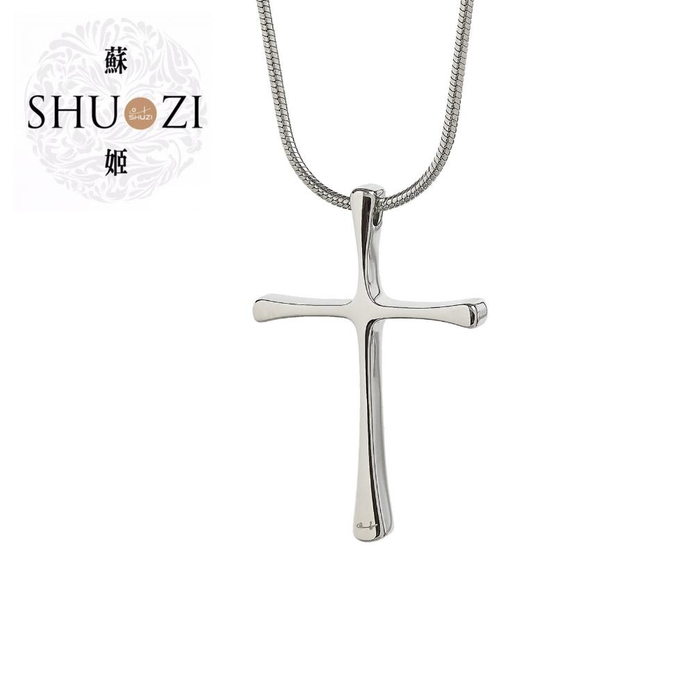SHUZI™ 十字白鋼墜鍊 - 美國製造  NC-S01