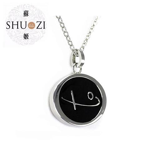 SHUZI™ Logo 墜鍊 黑 - 美國製造  PL-S09