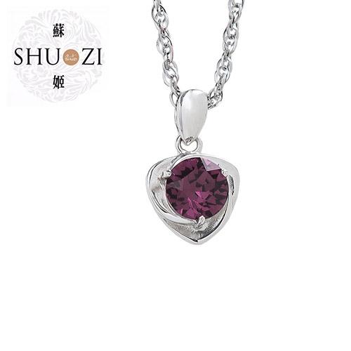 SHUZI™ 紫水晶純銀墜鍊 - 美國製造  PS-W02