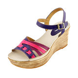 【Kimo德國品牌手工氣墊鞋】造型炫彩超輕楔型涼鞋 迷戀紫(藍/紫 K14SF065029)