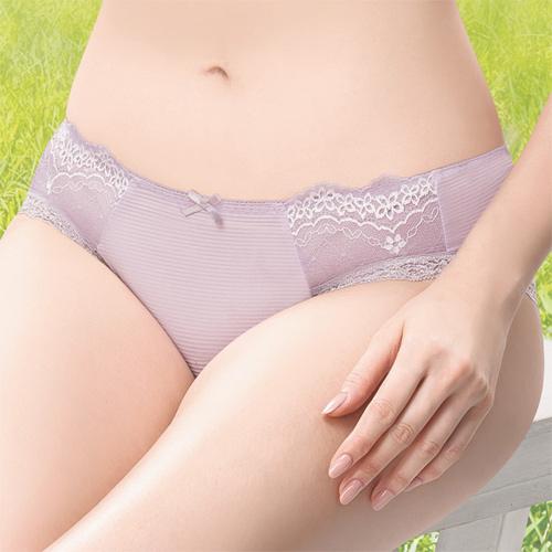 【莎薇】Air Cool 透氣涼感 M-LL 低腰三角褲(藕膚紫)