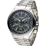 CITIZEN Eco-Drive 王者旗艦衛星對時鈦金屬腕錶-灰面(CC1086-50E)
