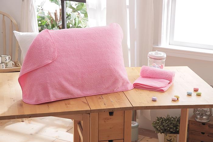 HO KANG 抗菌防螨枕巾~粉色 2入