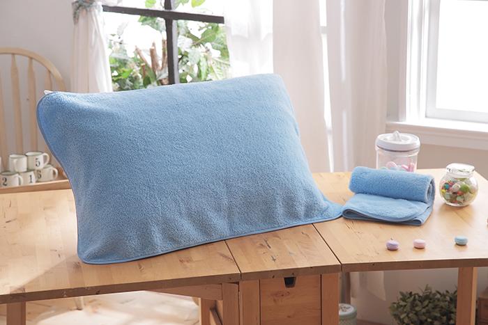 HO KANG 抗菌防螨枕巾~藍色 2入