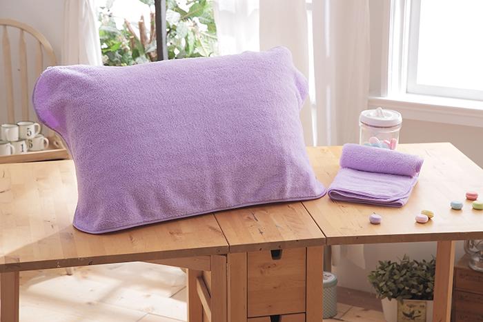 HO KANG 抗菌防螨枕巾~紫色 2入