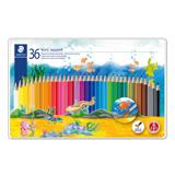 【施德樓 STAEDTLER 色鉛筆】MS14410M36 水性色鉛筆 (36色組)