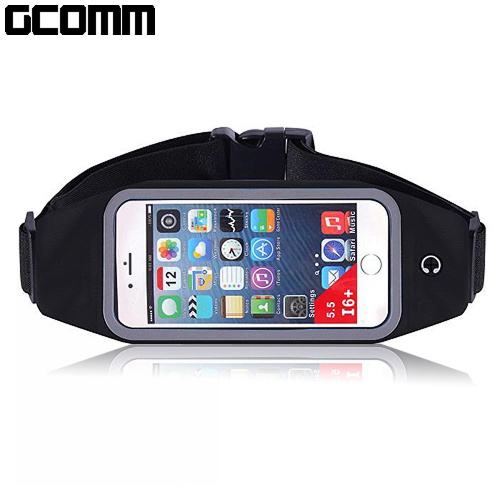 GCOMM SPORT 穿戴式音樂防汗水運動腰包 5.7吋以下通用 經典黑