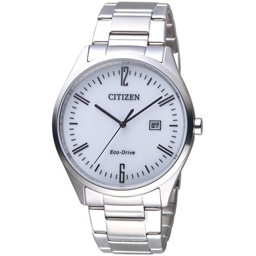星辰 CITIZEN Eco Drive 簡約典雅光動能腕錶 BM7350-86A