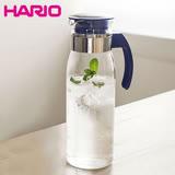 【日本HARIO】耐熱玻璃冷水壺1400ml-深藍-台灣限定版 RPLN-14-NV