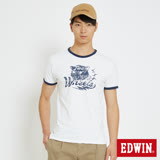 EDWIN 復古雙輪動物短袖T恤-男-白色