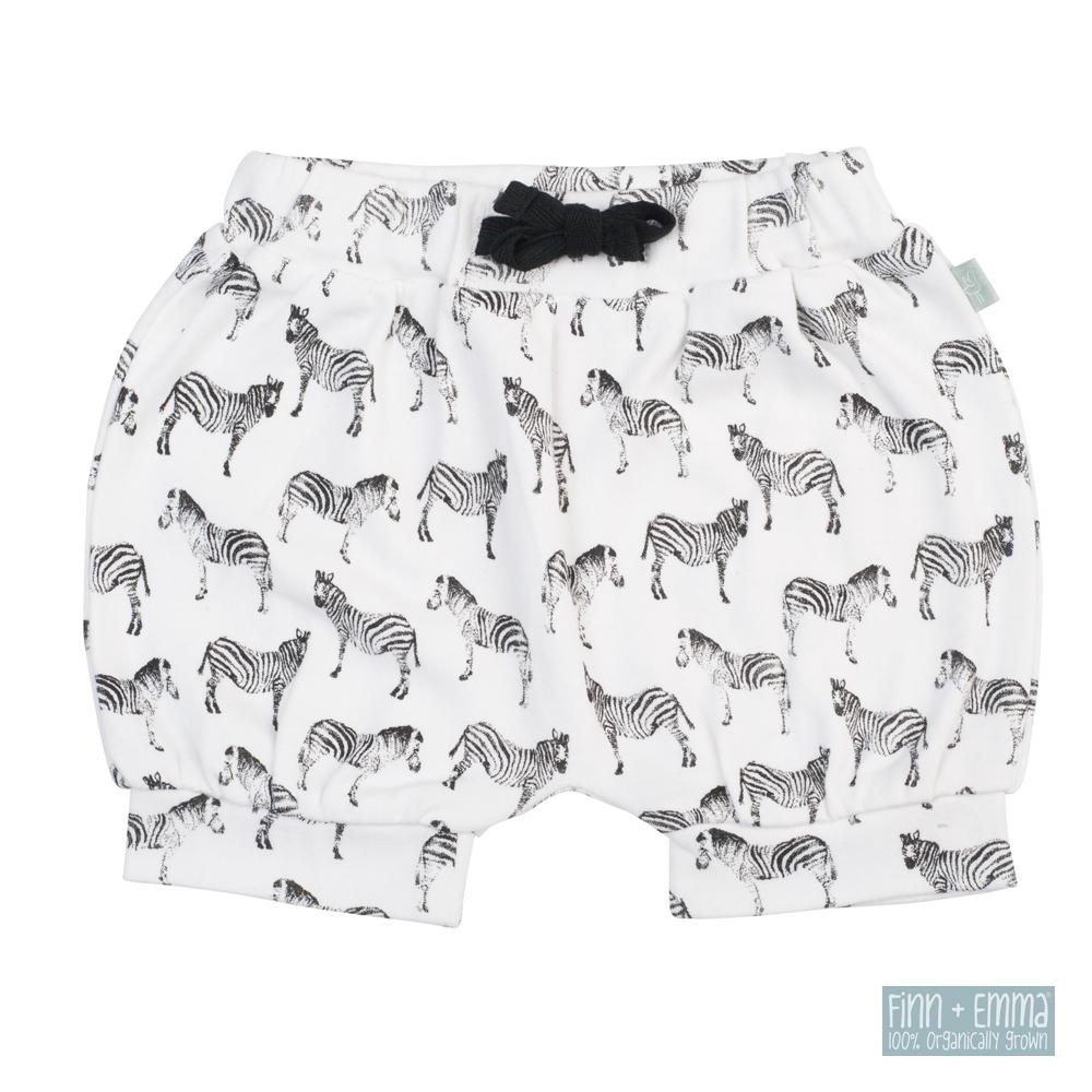 美國 FINN & EMMA 有機棉燈籠短褲 (斑馬)