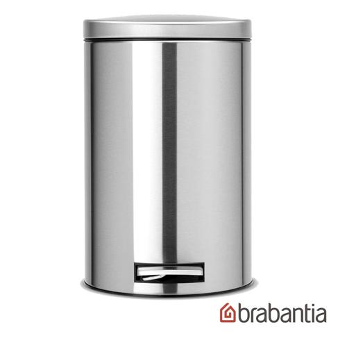 【荷蘭Brabantia】防指紋腳踏式垃圾桶12L-靜音