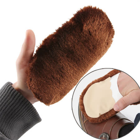 【PS Mall】軟毛鞋刷擦鞋布手套鞋刷子 皮鞋鞋子清潔神器 毛絨刷鞋工具 擦鞋 2入 (J273)