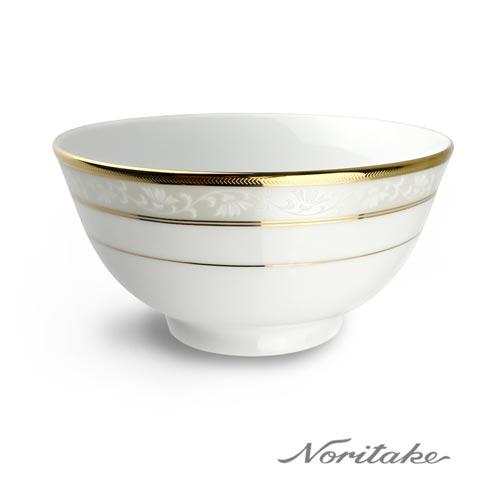 【日本Noritake】花舞春風銀邊麵碗16CM