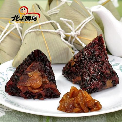 北斗麻糬 紫米桂圓紅豆粽 (6粒/盒,共2盒)