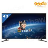 【禾聯HERAN】43吋 4K 聯網 LED液晶顯示器/電視+視訊盒(HD-434KC1+MI5-C01)