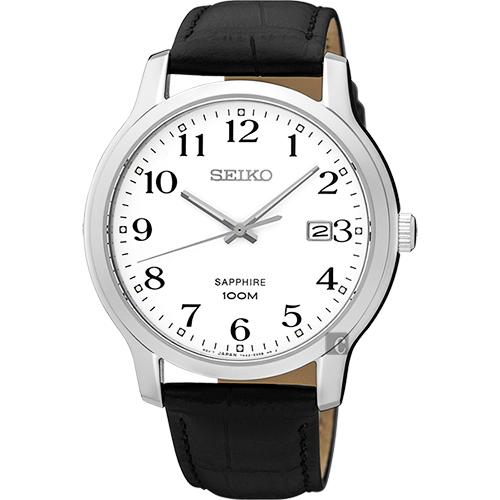 SEIKO精工 CS系列城市戀人手錶-白/ 41mm 7N42-0GE0C(SGEH69P1)
