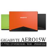 GIGABYTE AERO 15/i7-7700HQ/16GB/GTX1060 6GB/256GB M.2 PCIe