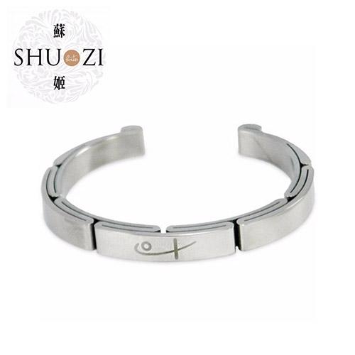 SHUZI™ 白鋼手鐲 - 美國製造  BC-S03
