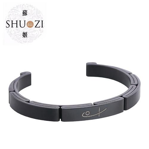 SHUZI™ 鋼手鐲 黑 - 美國製造  BC-S05