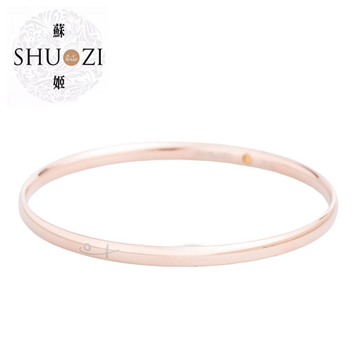 SHUZI™ 細圈手環 玫瑰金 - 美國製造  BC-S13