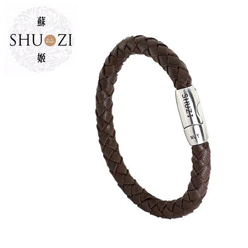 SHUZI™ 編織手環 棕 - 美國製造  LB-R02