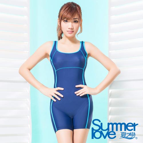 【SUMMERLOVE 夏之戀】大女連身四角泳衣S15743