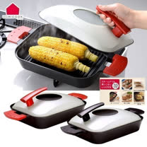 日本UCHICOOK<br/>水蒸式蒸煮燒烤盤