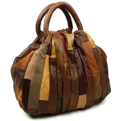 手提包真皮牛皮斜背包-文藝復古民族風水桶女包包2色73lp1【米蘭精品】