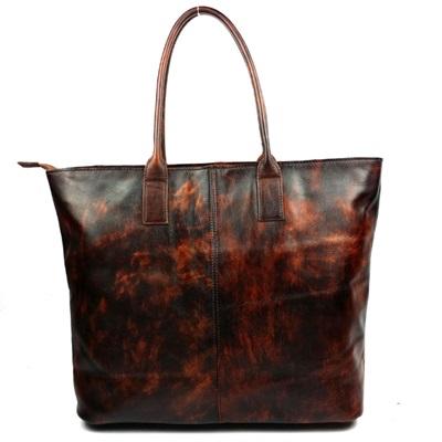 手提包真皮牛皮肩背包-時尚休閒歐美潮流女包包73lp21【米蘭精品】