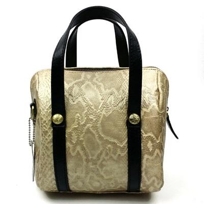 手提包真皮牛皮斜背包-經典蛇紋小巧優雅女包包3色73lp26【米蘭精品】