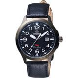 ORIENT東方 探險家SP石英腕錶-黑x白時標/40mm FUNE4002B